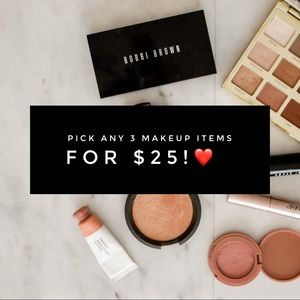 Pick Any 3 Makeup Items For $25!!❤️❤️❤️